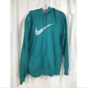 Nike Women's Large Nike Swoosh Teal Hoodie